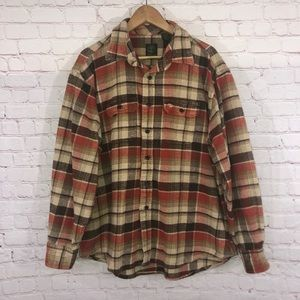 Timberland Wool Plaid Flannel Shirt